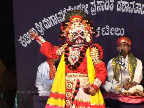 Yakshagana - Devi Mahtme Patla Sathish Shetty At Jeppu Majila M'lore ( 2013) video