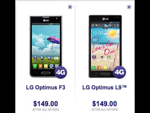 LG Optimus L9 Vs Optimus F3 Review - Metro pcs. Virgin mobile. US cellular!