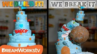 Giant Birthday Cake vs. Giant Boulder | WE BUILD IT WE BREAK IT