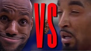 Lebron James VS Jr Smith Rap Battle - NBA Finals (Game 1) | Daddyphatsnaps