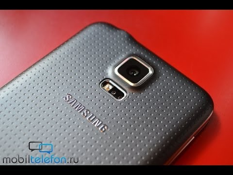 Распаковка Samsung Galaxy S5 в черном цвете (unboxing)
