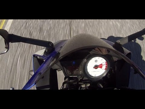 Yamaha Yzf R-125 Top Speed GoPro Hero 3 HD 1080p klip izle