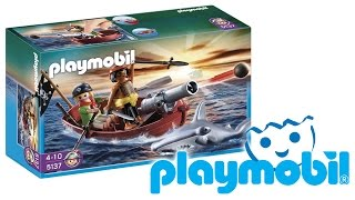 PLAYMOBIL PIRATI - 5137 BARCA DEI PIRATI CON PESCE MARTELLO PLAYMOBIL REVIEW RECENSIONE (ita)
