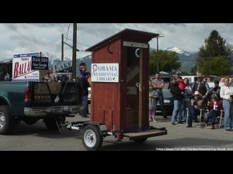 'Obama Presidential Library' Outhouse With Fake Bullet Holes