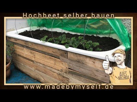 Hochbeet selber bauen, anlegen und befüllen, Badewanne und Paletten Upcycling