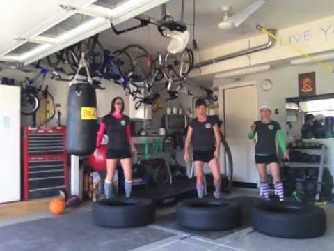 Simple Garage Tire Workout