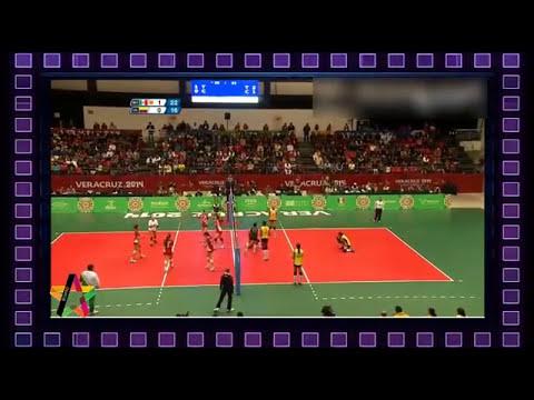 Voleibol México vs Colombia Cuartos de final Juegos Centroamericanos 2014  18/11/2014 Parte 2