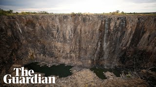 Victoria Falls shrinks to a trickle after worst drought in a century