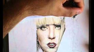 Lady Gaga ( With Color Pencil ) - Speed Drawing