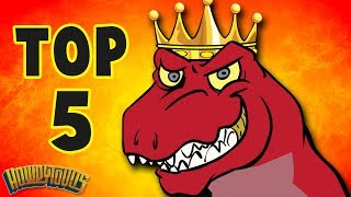 Top 5 Dinosaur Songs   Best Dinosaur Cartoons for Kids from Dinostory by Howdytoons