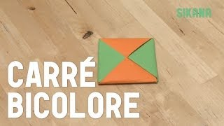 Origami : Faire Un Carr Bicolore En Papier - Hd