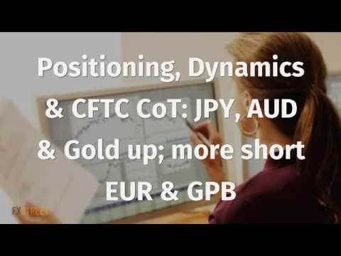 Positioning, Dynamics & CFTC CoT: JPY, AUD & Gold up; more short EUR & GPB