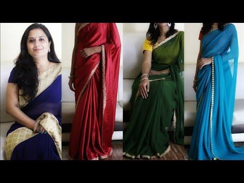 पुरानी party wear साड़ी से नयी Designer साड़ी बनाएँ - DIY Design your own Designer saree