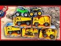 Construction Trucks Toy Unboxing - Monster Trucks and Diggers for Kids
