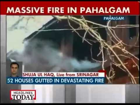 Massive fire guts 52 buildings in J&K