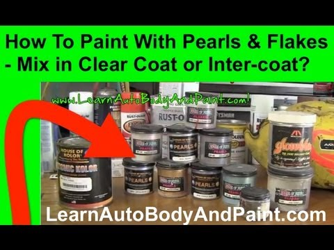 How To Paint Pearl or Flake - Mix in Clear Coat or Intercoat?