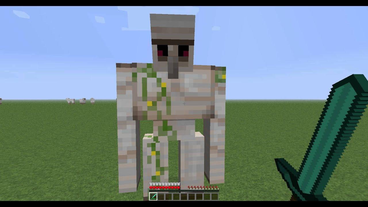 Как сделать Железного голема в minecraft без модов - YouTube