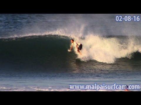 Costa Rica, www malpaisurfcam com 02 08 16 Surfing Mal Pais Santa Teresa