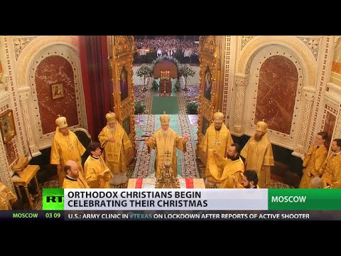 Thousands of believers gather to celebrate Orthodox Christmas