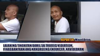 TRAFFIC VIOLATOR NA NAGBANTA SA NAGHULING TRAFFIC ENFORCER, VIRAL!