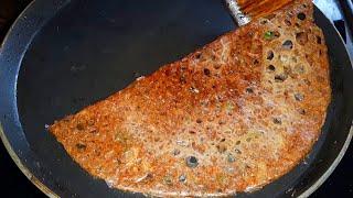 10 நிமிடத்தில் உடனடி மொறுமொறு கேழ்வரகு தோசை செய்வது எப்படி|Instant Crispy Ragi dosa breakfast 10 min
