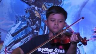 """Rhythm Star Music School Jogja """"Laskar Pelangi - Nidji"""" Cover by : Dhesta & Satria (Biola & Gitar)"""