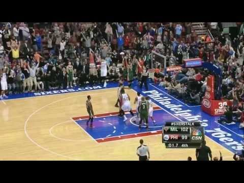 Spencer Hawes's INCREDIBLE Game-tying 3 pointer vs. Bucks! (HD)