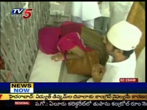 Telugu Actress Sneha Visits Ameen Peer Dargah At Kadapa (tv5) video