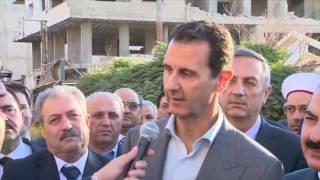 Message de Bachar al-ad aux occidentaux après la libération de Daraya