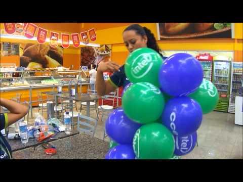 aprenda fazer espiral rapido com balões