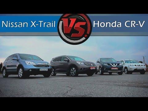Nissan X-Trail VS Honda CR-V (2015). Битва поколений. Две Лошадиные Силы