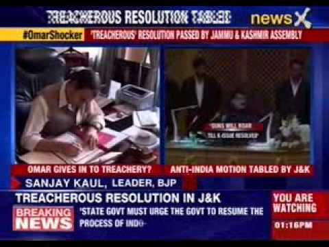 'Treacherous' resolution passed by Jammu and Kashmir assembly