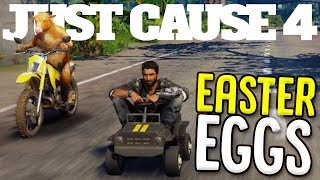 All The Best Easter Eggs In Just Cause 4 - Cow Gun, Tiny Car, Dinosaur Escape & More! - Just Cause 4