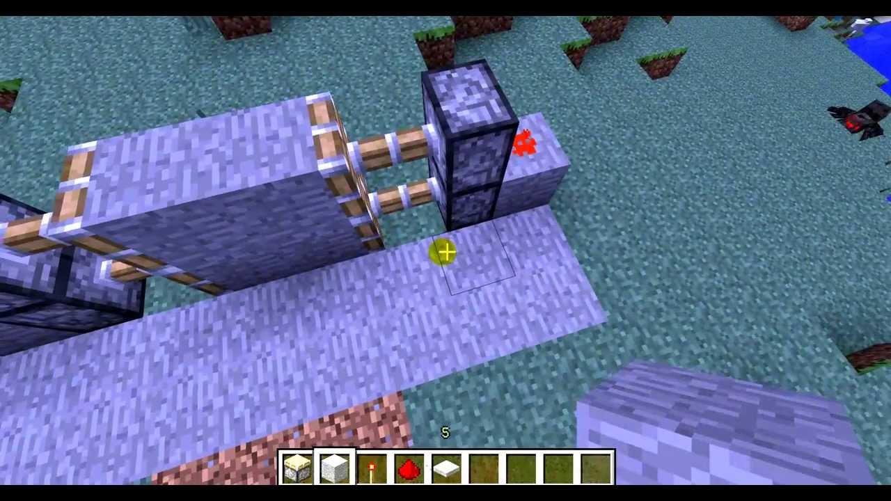 Как сделать механические ворота в Minecraft - YouTube