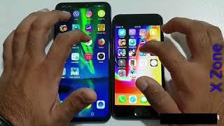 Honor 8x Vs iPhone 7: speed test.