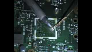Compaq 615 motherboard bga replacement part2.flv
