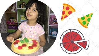 Pizza toys - Aara pretend plays making PIZZA for DADDY - kids pretend play fun