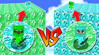 1000 LUCKY BLOCKS DIAMOND vs 1000 LUCKY BLOCKS EMERALD! 💥😱 LUCKY BLOCKS MINECRAFT MOD
