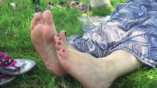 MILF Soles In Pink Sandals at The Park PART 4