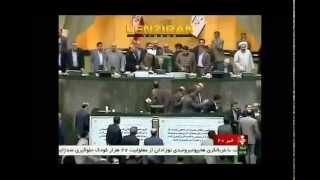 Ali Larijani authoritarian behavior in Majlis during approval of nuclear accord