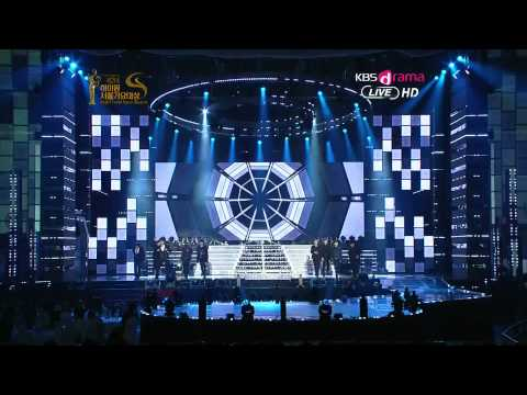 120119 Kbs 21st Seoul Music Awards Super Junior-superman+mr.simple video