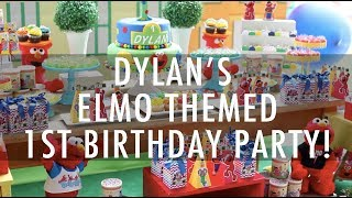 Dylan's Elmo Themed 1st Birthday Party