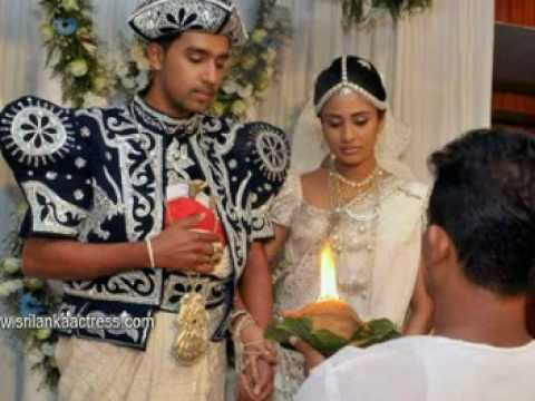 Sri Lankan Teledrama Actress Manjula Kumari's Wedding Photos video