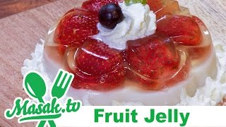 Jelly Buah - Fruit Jelly with Whipped Cream | Jajanan #065