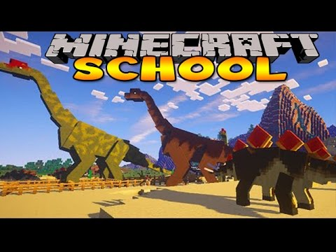 Minecraft School : Dinosaur Jurassic Park Trip! video