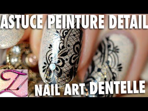 Tuto nail art dentelle + astuce : Faire des traits fins et droits en peinture