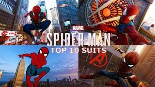 Marvel's Spider Man - My Top 10 Favorite Suits In #SpiderManPS4