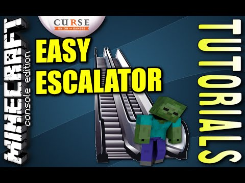 MINECRAFT - PS4 - EASY ESCALATOR - HOW TO - TUTORIAL ( PS3 / XBOX /PC )  UPDATE