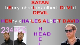 Prince Harry Anagram [Satan Devil] - Roaring Lion