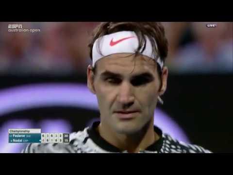 Last 5 games with commentary - Federer Nadal Australian Open 2017